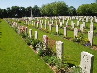 The Commonwealth Graves Commission looks after the Canadian Cemetery as well as the British ones