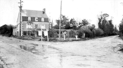 Dead Mans Corner in 1944 near Carentan and near where Adrian lives