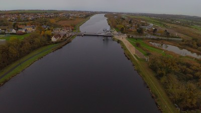 Looking north at Pegasus Bridge